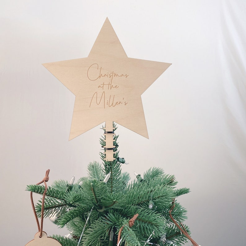 Christmas Tree Star  Tree Topper  Personalised image 3