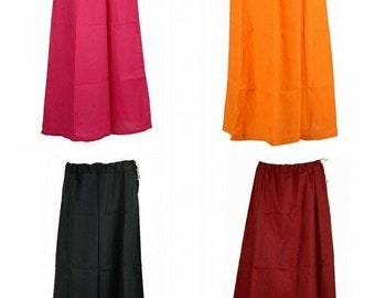 PEACH Lizzy Bizzy Petticoat Women/'s Free Size Solid Sari Petticoat InSkirt For Saree Under Skirt Stitched Craft Clothing