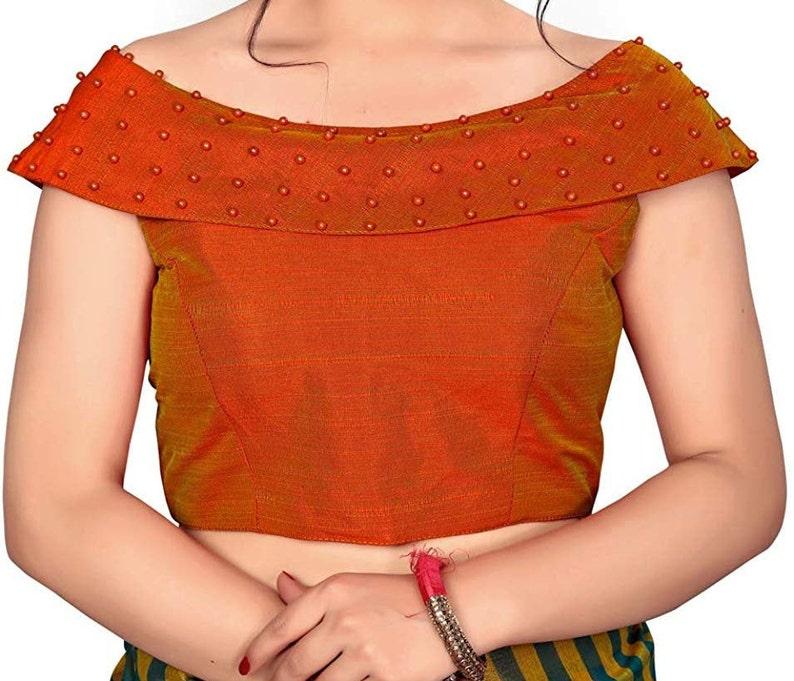 Beautiful Art Silk Designer Stitched Readymade Saree Choli Top Tunic Sari Blouse For Women Wedding Wear,Bridal Wear,Bridesmaid Wear Blouse