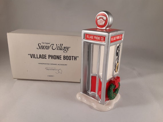 Dept 56 VILLAGE PHONE BOOTH Snow Village 54291 NEW IN BOX