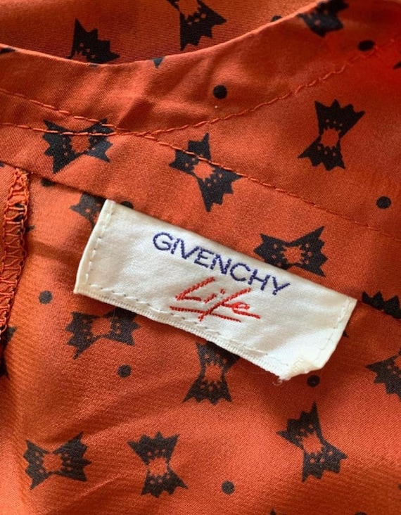 Vintage 1990s silk printed Givenchy life butterfly