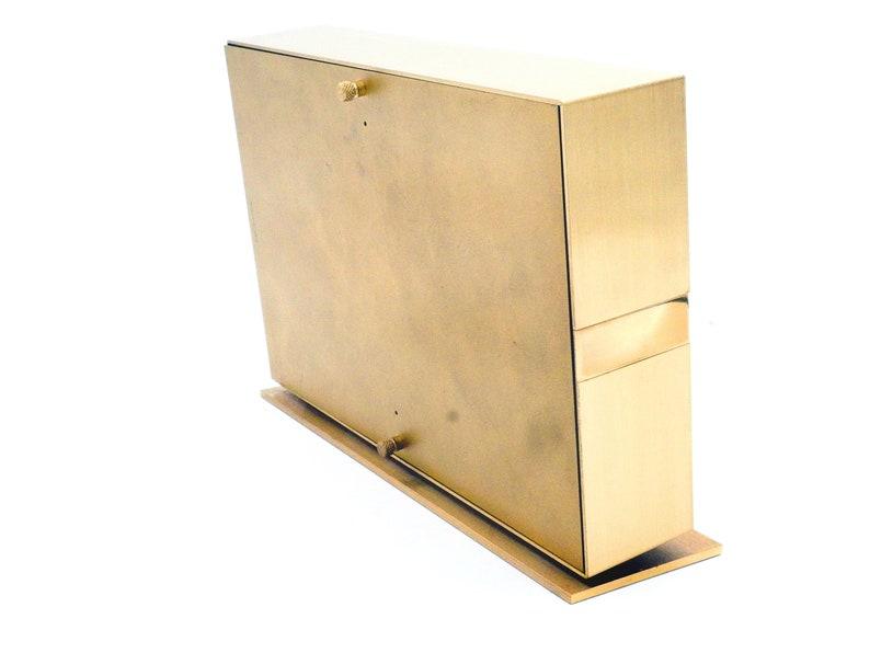 Brutalist vintage Diehl Table Clock, 60e design allemand