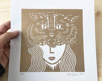 Gold Wildcat Woman
