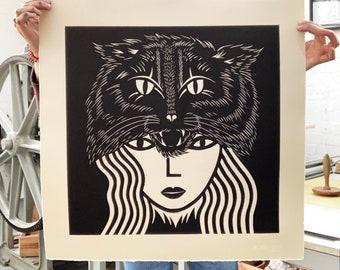 Large Wildcat Woman