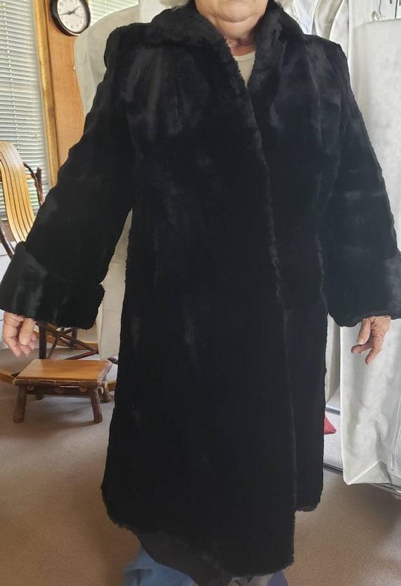 1930s Black Rabbit Fur Coat