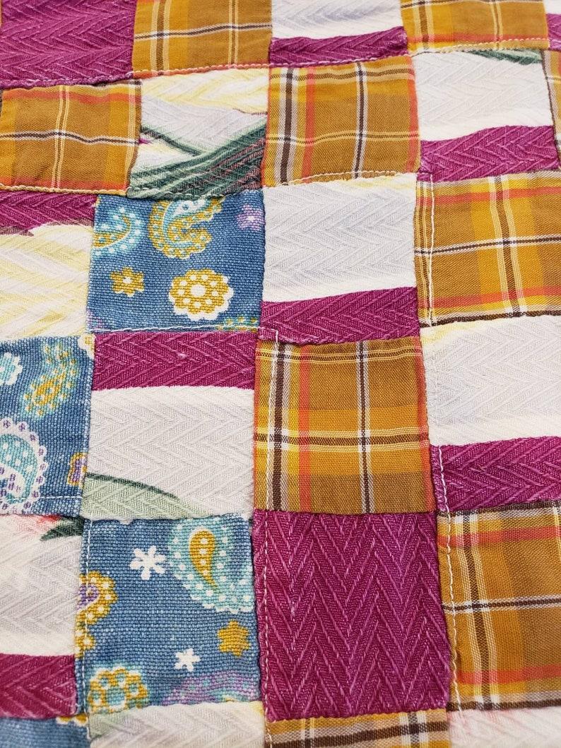 Vintage Doll Quilt 1940s fabrics