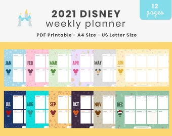 Printable 2021 Disney Weekly Planner - A4 and Letter Size