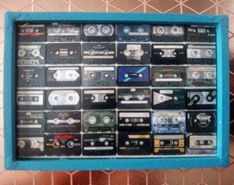 Miniature Mixtape Cassettes Photography Framed Print for Dollhouse
