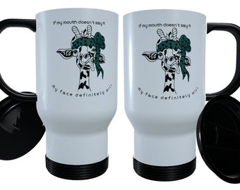 Cups Set Of 2 Safari Animal Eco Friendly Bamboo Travel Mugs Monkey Giraffe