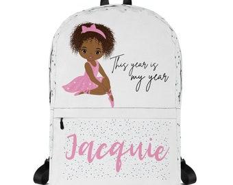 Personalized Custom Backpack  Ballerina Backpack Ballerina Bag Girls Backpack  Backpack Kids  Personalized Girls Backpack  School Backpack