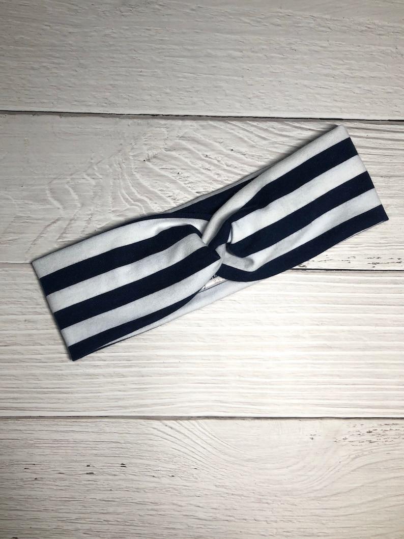 Hair Accessories Baby Headband Navy Stripe Twist Headband