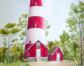 New Point Comfort Virginia Lighthouse Fridge Magnet