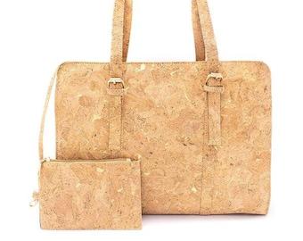 Cork bags cork handbag for women Natural cork with Squared pattern grain Handmade original cork bag BAG-319-C