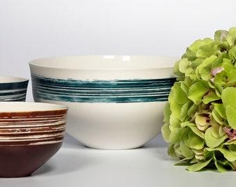 Large bowl 2000ml/67.6oz. utilitarian and decorative porcelain