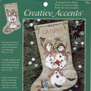 Cross Stitch Christmas Stocking Instant Digital PDF Download Pattern Cats And Stockings Poinsettia by Pamela Kellogg