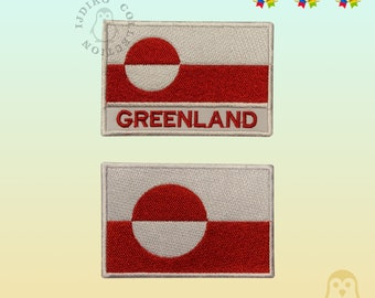 GREENLAND LAND OF THE KALAALLIT GREENLANDER FLAG Sew on Patch Free Postage