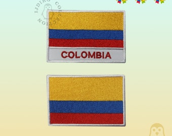 Colombian Flag Small Iron On// Sew On Cloth Patch Badge AppliquГ© Bandera Colombia