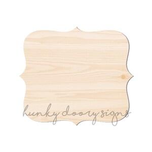 Frame Cutout Wood Blank Wooden Door Hanger