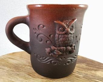 Stoneware mug / Owl mug / Ceramic mug handmade