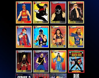 Wrestling Heroes and Villains trading card pack