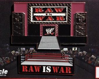 WWF Raw is War pin set