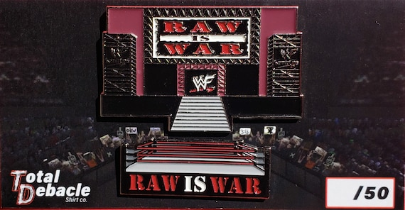 Wwf Raw Is War Pin Set Etsy