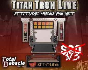 Titan Tron Live arena pin set
