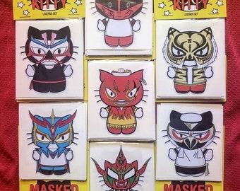 Masked Kitty Sticker pack