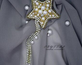 Sternchen Stern Perlen funkelnd diamantiert Stardust 925 Sterling Silber 5mm 5St
