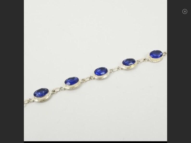 Vintage sterling silver bracelet gorgeous condition Sapphire