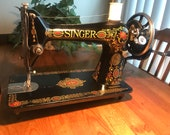 Vintage Singer 66 Red eye Sewing Machine