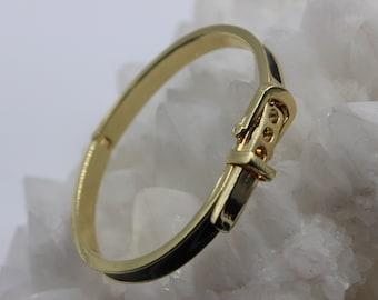 6CM  diameter Quality VINTAGE 12kt rolled gold safety chain,wide bangle stamped inside free post... wide belt buckle bangle,bracelet