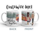 Better Together   Husband and Wife   Boyfriend Girlfriend Mug   Customize Me   Best Friend Mug