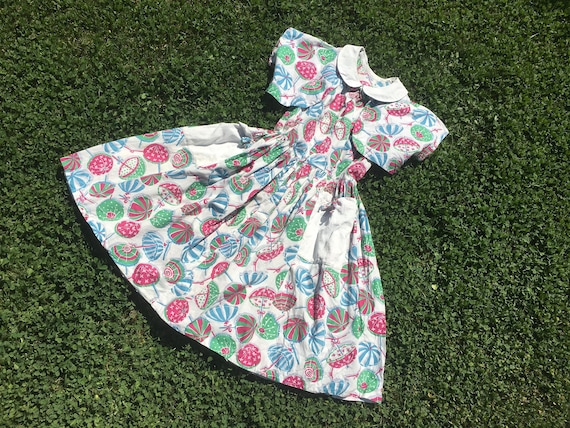 1940's Parasol Novelty Print Dress and Bolero