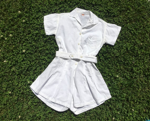 1940's Belted Gym Romper/Playsuit