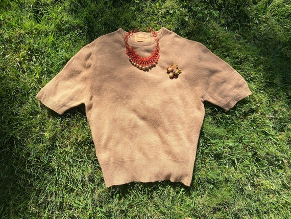 1950's Camel Colored Cashmere Sweater