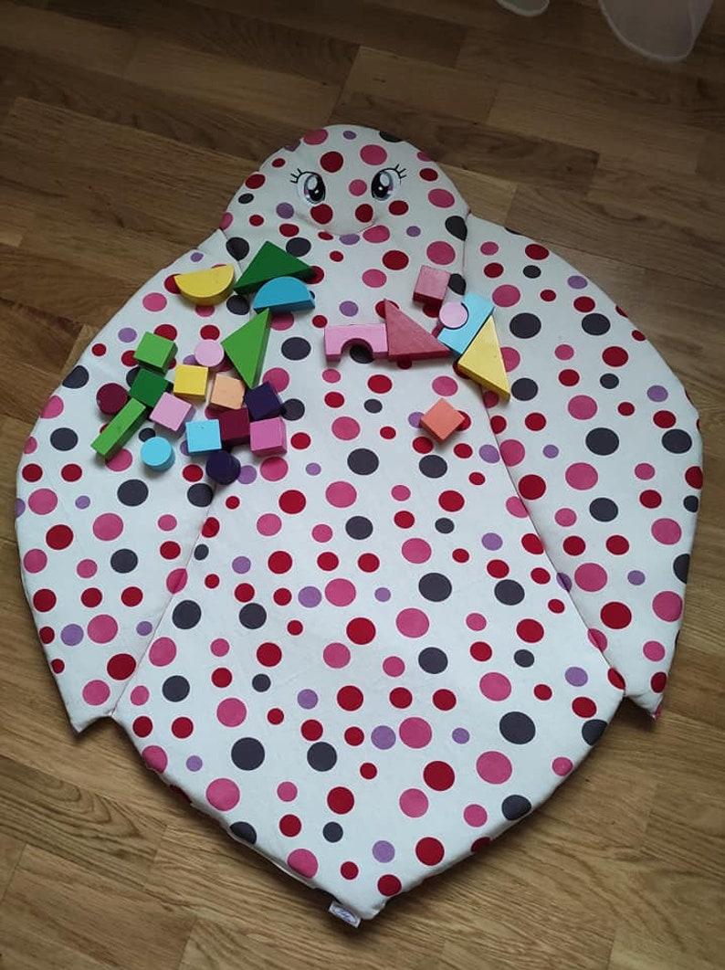 Ladybug Play Mat,Soft Linen  Mat,Floor Play,Nursery mat,Mat for kids,Mat for babies