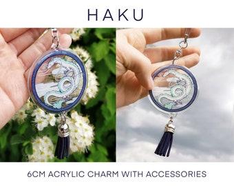 Haku Dragon Acrylic charm with accessories