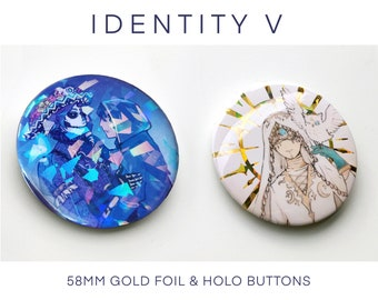 Identity V Eli clark Norton Naib Holographic pin plate buttons