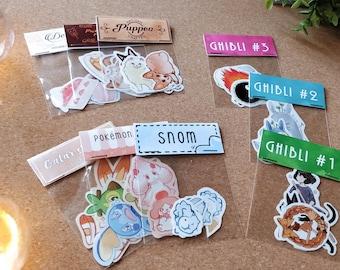 10 Various sticker sets