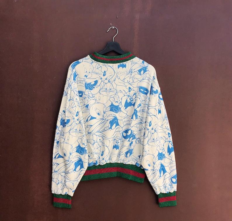 looney tunes all character big fullprint logo pullover jumper croptop sweatshirtpulloverfashionstylestreetwearcartoondesigner Pick!