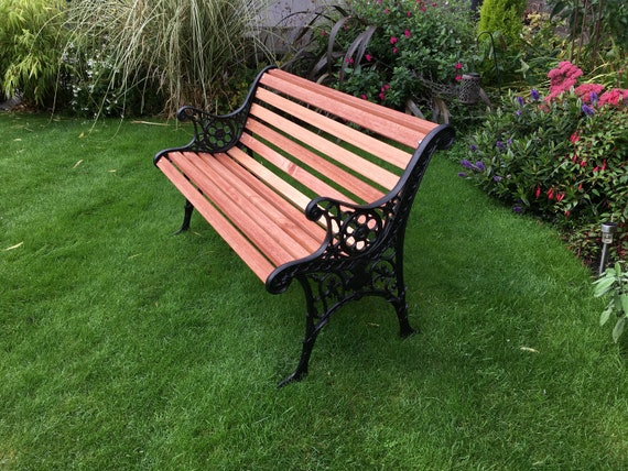Fine Edwardian Cast Iron Garden Park Bench Gmtry Best Dining Table And Chair Ideas Images Gmtryco