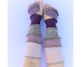 Cashmere Wool Hand Warmers, Knitwear Arm Warmers Upcycled Recycled Gloves Mitts Warm, One Size Knitwear Joyful Christmas Present for Her