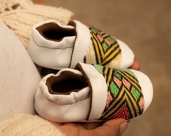 Wolfaby, Ankle, Ethiopian Habesha Tilet, Leather, baby shoes, soft sole, baby moccasins, crib shoe, for baby boy, baby girl, infant shoes