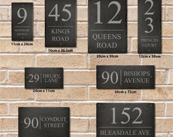 Rustic Door Number Slate House Sign 20cm x 30cm