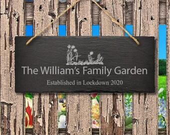 Slate Garden Signs Etsy