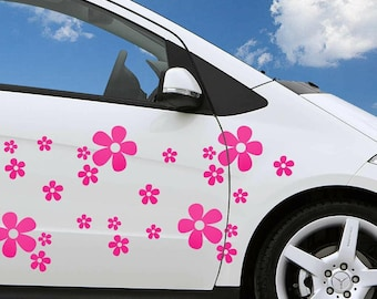 25 Pack Daisy Flower Stickers Decal Tile Car Wall Decor Laptop Home Children