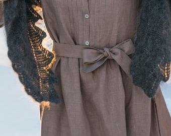 Vintage Tunic Dress Taupe