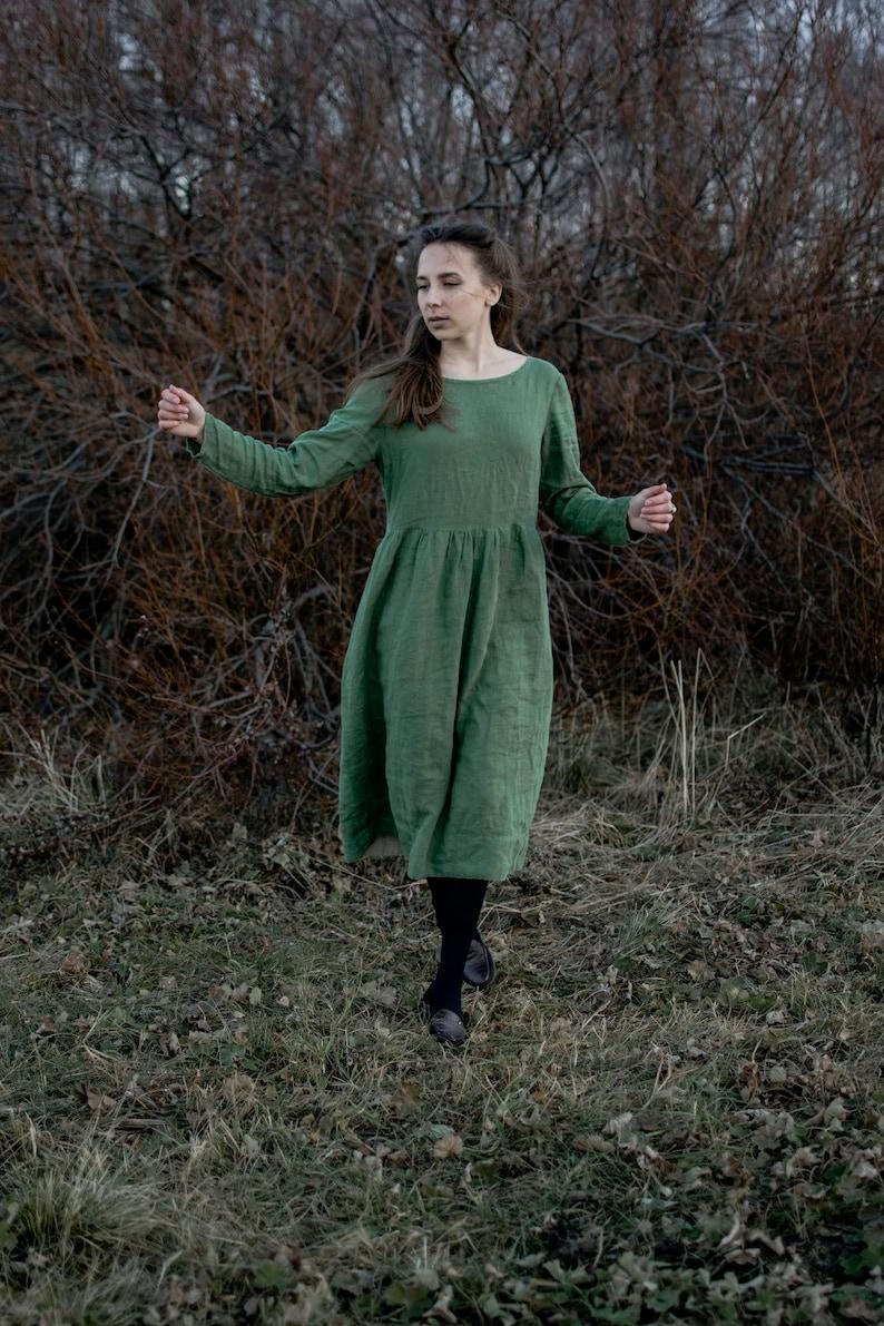 Leinen Kleid Melissa grünes Kleid Leinen Kleid   Etsy