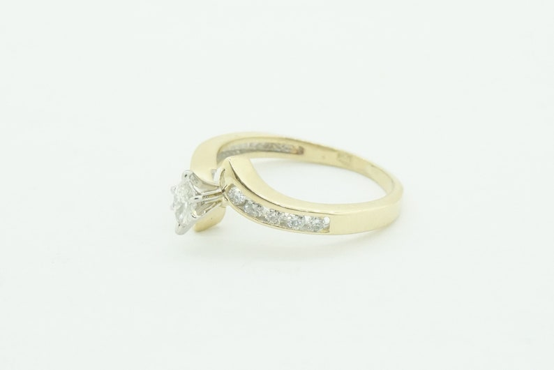 Women/'s 14K Engagement Yellow Gold Ring with Diamonds #21721